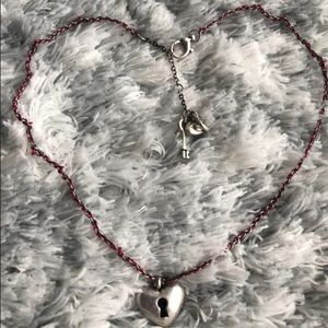 Fossil Key Heart Necklace & Bracelet